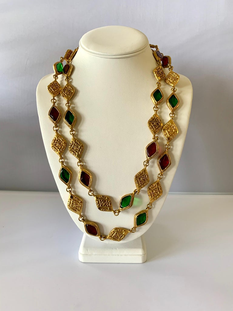 Vintage scarce Chanel statement necklace