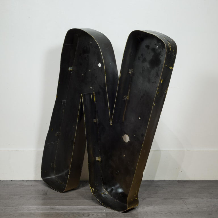 About  These are original large metal channel sign letters