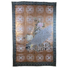 Large Vintage Chinese Hand Embroidery Tapestry