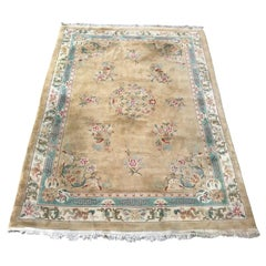 Large Vintage Chinese Savonnerie Style Rug