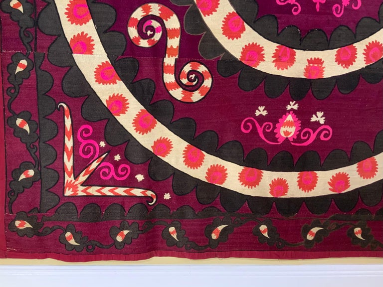 Large Vintage Embroidery Suzani Textile For Sale 4