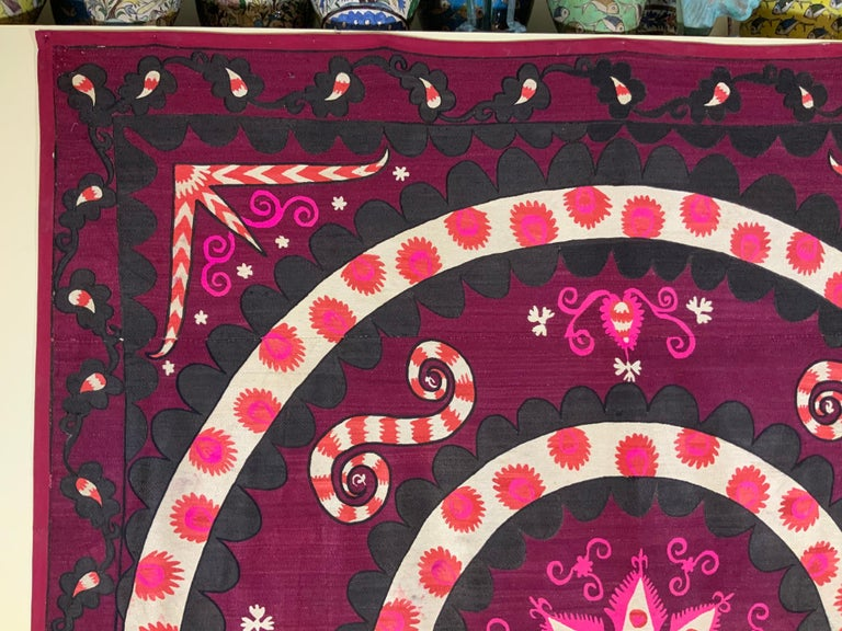 Large Vintage Embroidery Suzani Textile For Sale 6