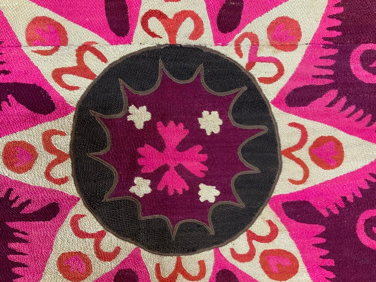 Large Vintage Embroidery Suzani Textile For Sale 8
