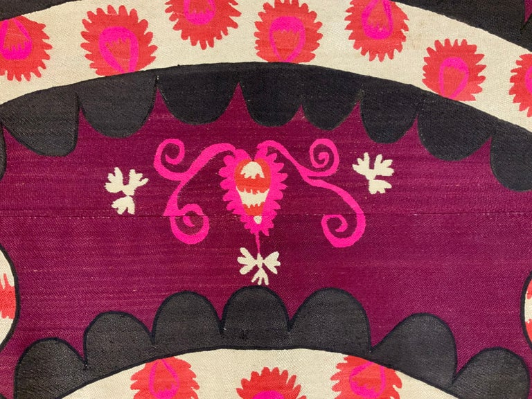 Large Vintage Embroidery Suzani Textile For Sale 12