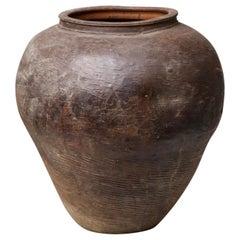 Large Vintage Farmyard Amphora Jar