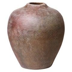 Large Vintage Farmyard Stoneware Jar
