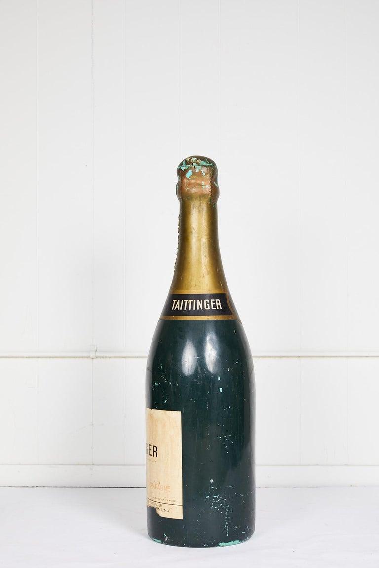 Hollywood Regency Large Vintage French Taittinger Bottle Prop For Sale