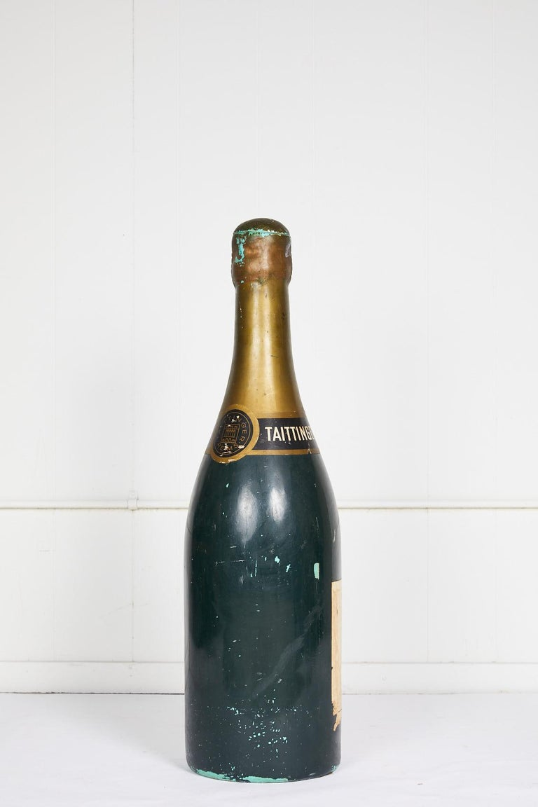 Large Vintage French Taittinger Bottle Prop In Good Condition For Sale In Atlanta, GA