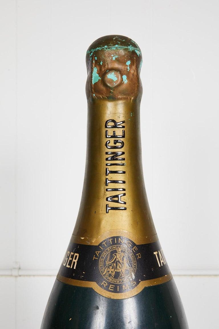 Composition Large Vintage French Taittinger Bottle Prop For Sale