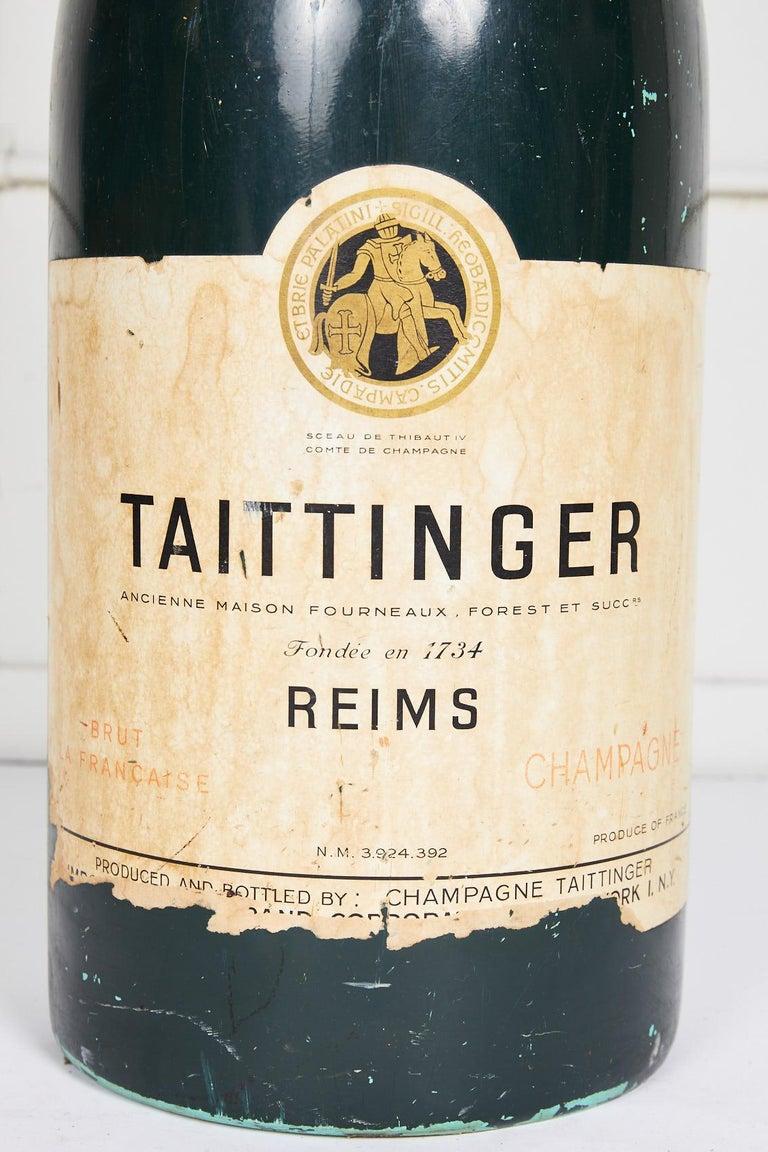 Large Vintage French Taittinger Bottle Prop For Sale 1