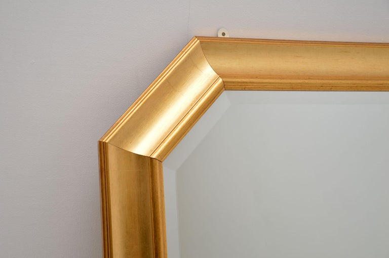 Mid-Century Modern Large Vintage Gilt Wood Mirror For Sale