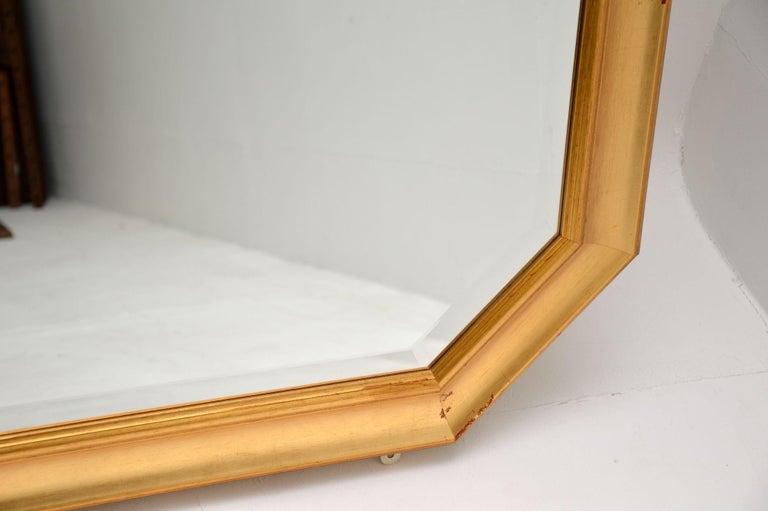 20th Century Large Vintage Gilt Wood Mirror For Sale