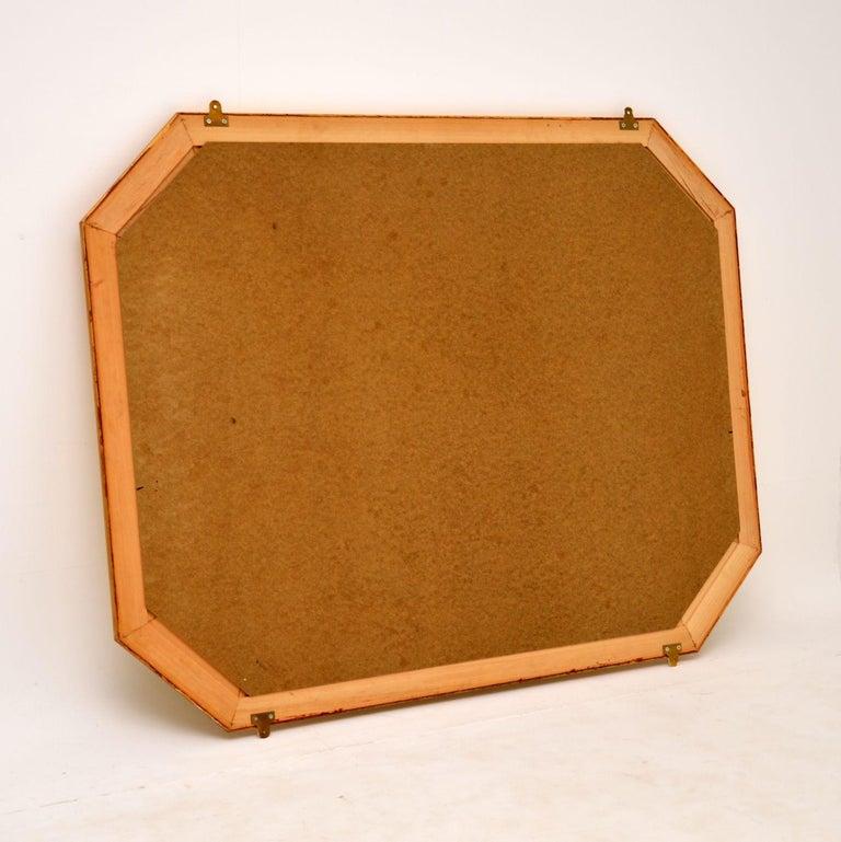 Large Vintage Gilt Wood Mirror For Sale 1
