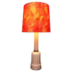 Large Vintage Glass Heiberg Table Lamp