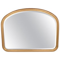 Large Vintage Gold Over Mantel Mirror
