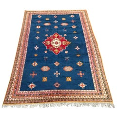 Large Vintage Hand Knotted Moroccan Rug
