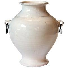 Large Vintage Hand Turned Italian Faience Majolica Art Pottery Studio Vase