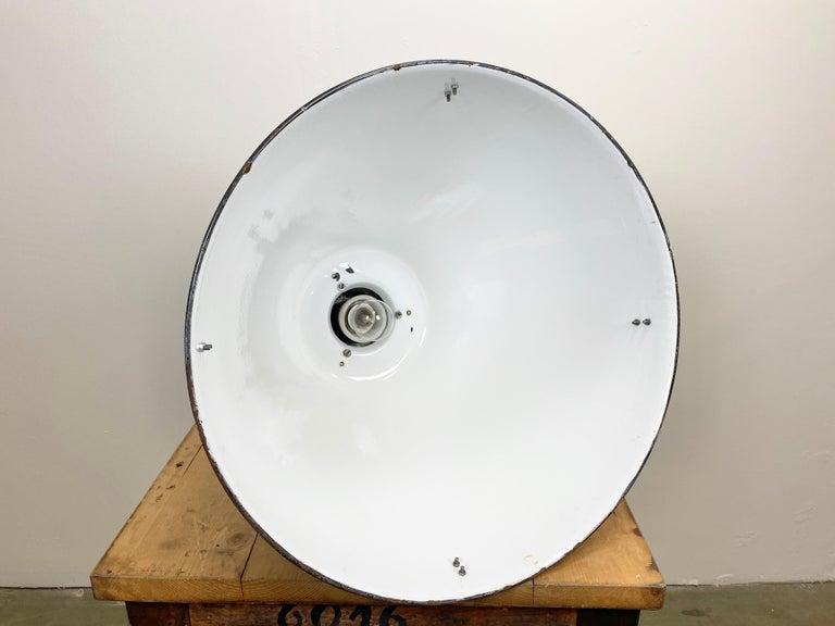 Large Vintage Industrial Factory Hanging Lamp For Sale 3