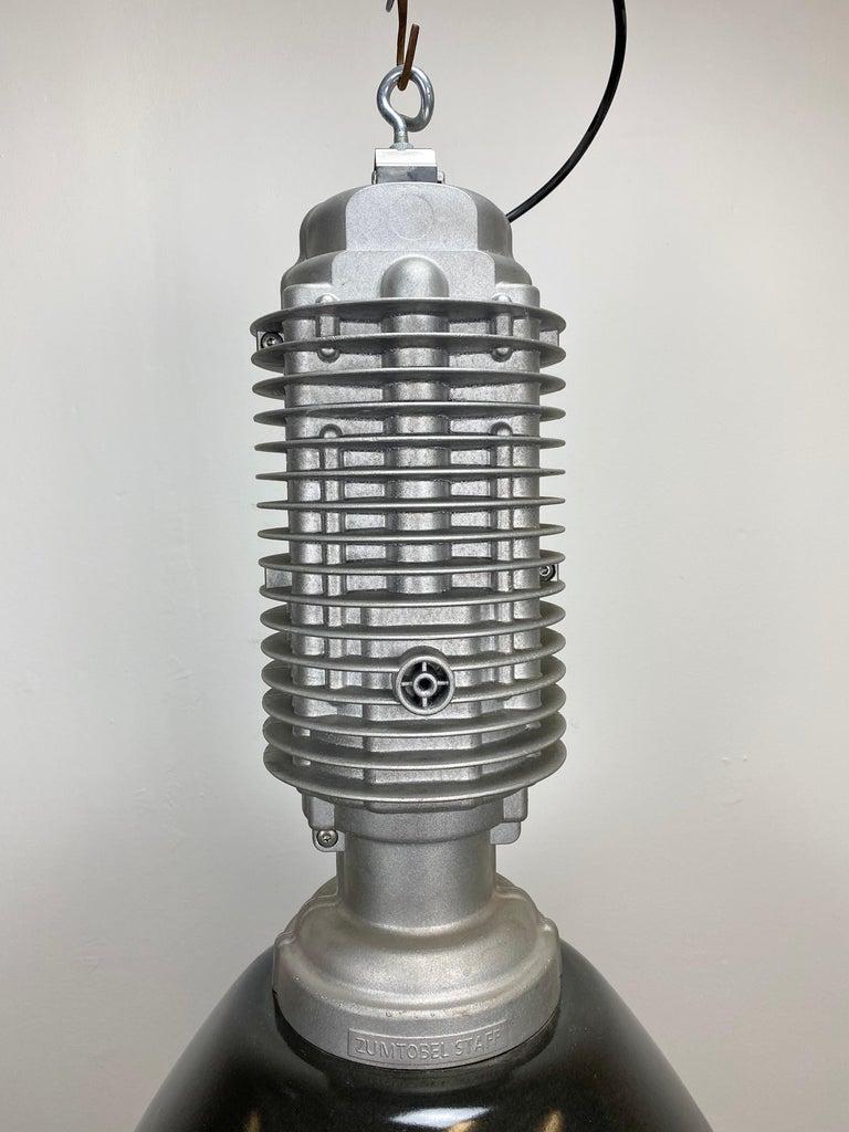 European Large Vintage Industrial Factory Hanging Lamp For Sale