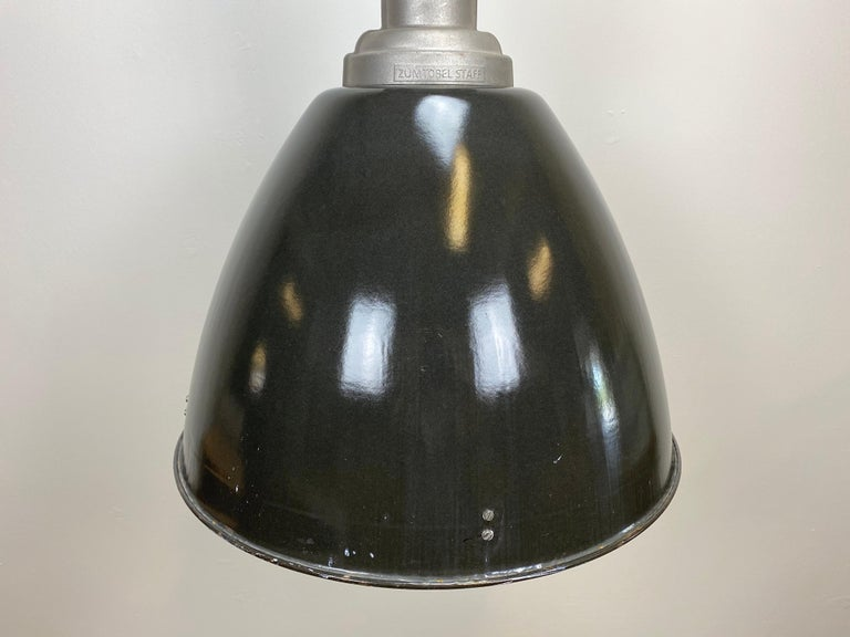 Large Vintage Industrial Factory Hanging Lamp In Good Condition For Sale In Mratin, CZ