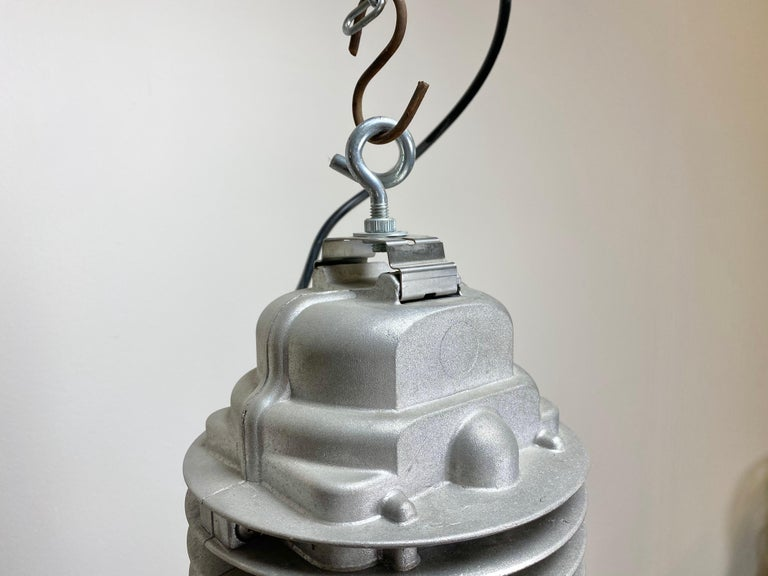 20th Century Large Vintage Industrial Factory Hanging Lamp For Sale
