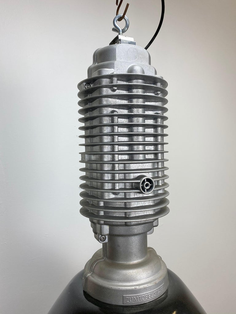 Aluminum Large Vintage Industrial Factory Hanging Lamp For Sale
