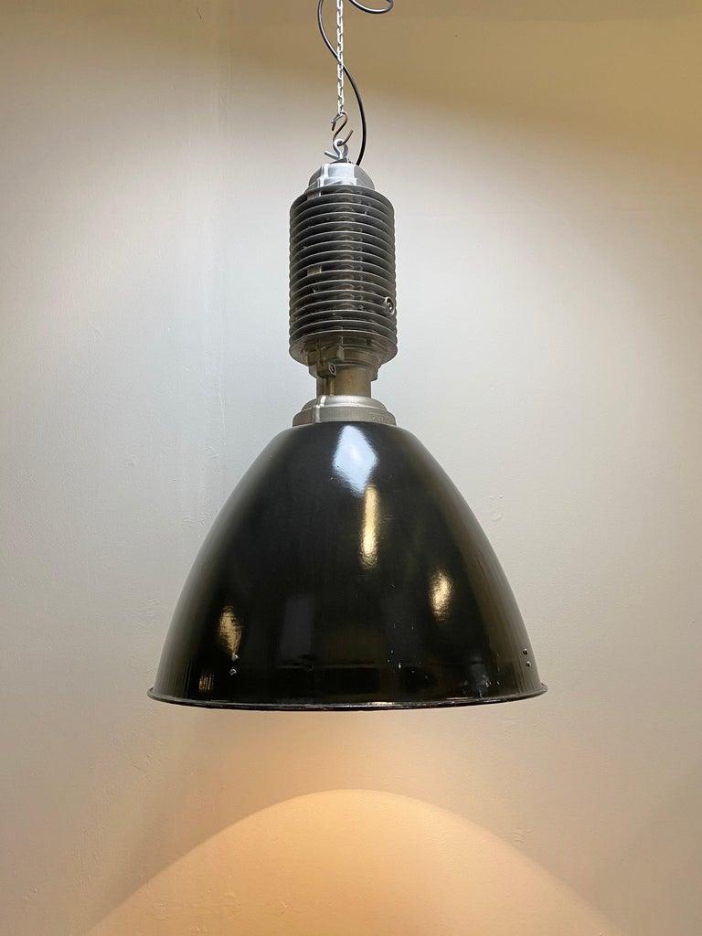 Large Vintage Industrial Factory Hanging Lamp For Sale 2