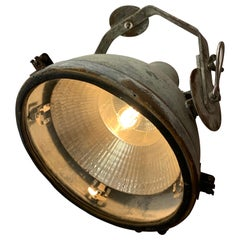 Large Vintage Industrial Swivel Metal Hanging Factory Light