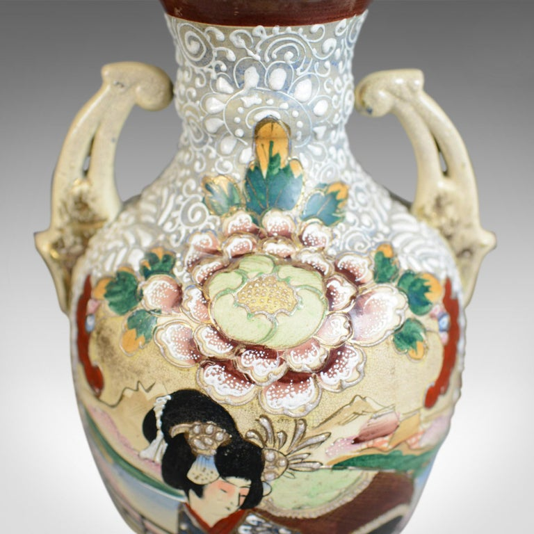 Large, Vintage Japanese Baluster Vase, Ceramic, Urn, Mid-Late 20th Century In Good Condition For Sale In Hele, Devon, GB