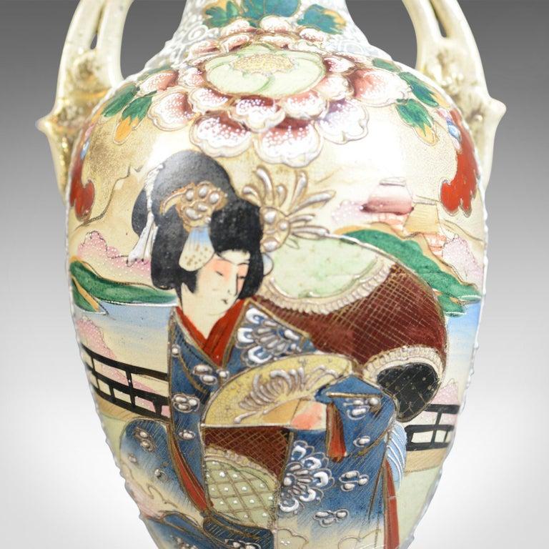 Large, Vintage Japanese Baluster Vase, Ceramic, Urn, Mid-Late 20th Century For Sale 1