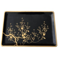 Large Vintage Japanese Lacquer Tray