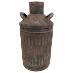 Large Vintage Jenney Oil 10 Gallon Can