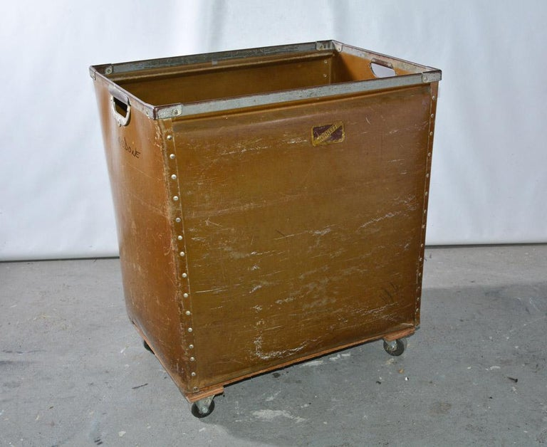 Industrial Large Vintage Mail Cart on Wheels For Sale