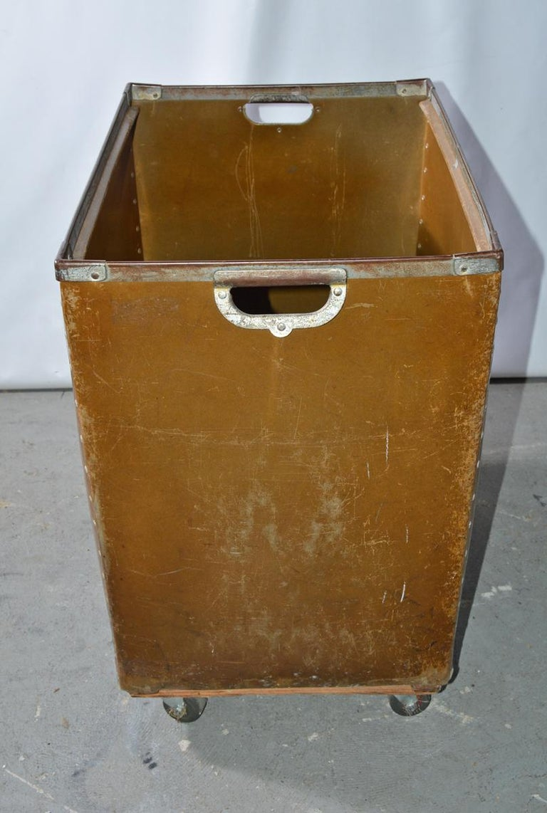 American Large Vintage Mail Cart on Wheels For Sale