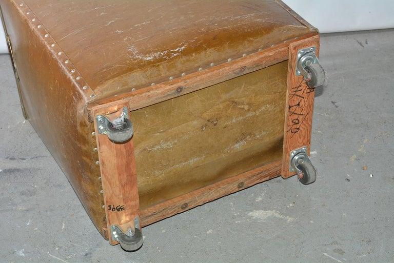 Large Vintage Mail Cart on Wheels For Sale 1