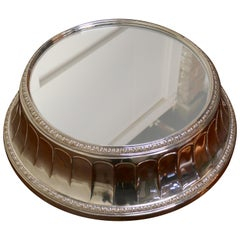 Large Vintage Mirror Top Elkington Silver Plate Wedding Cake Stand