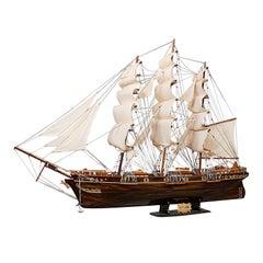 Large Vintage Model, Cutty Sark, English, Mahogany, Collectible, Ship, Display