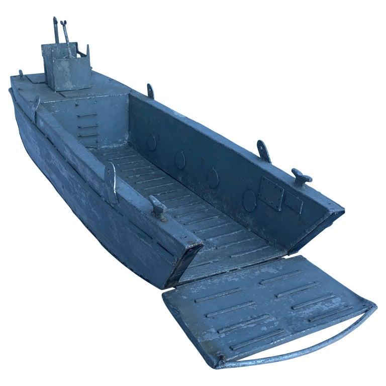 Large vintage model LCM USN landing craft.