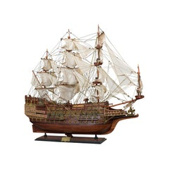 Large Vintage Model, Sovereign of the Seas, English, Mahogany, Collectible, Ship