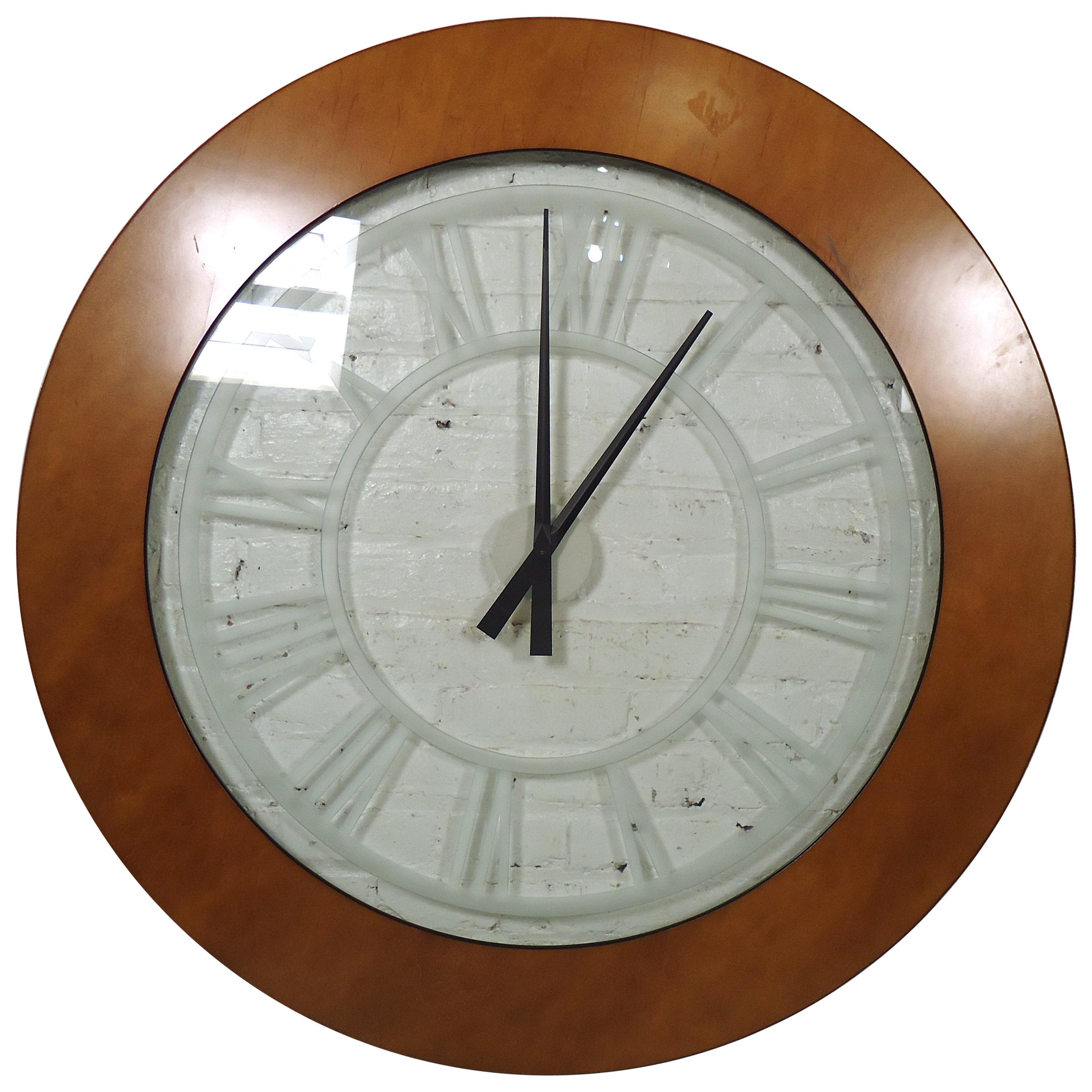 Large Vintage Modern Style Wall Clock