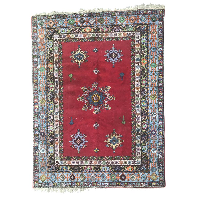 Large Vintage Moroccan Rabat Rug Antique Rugs And Carpets