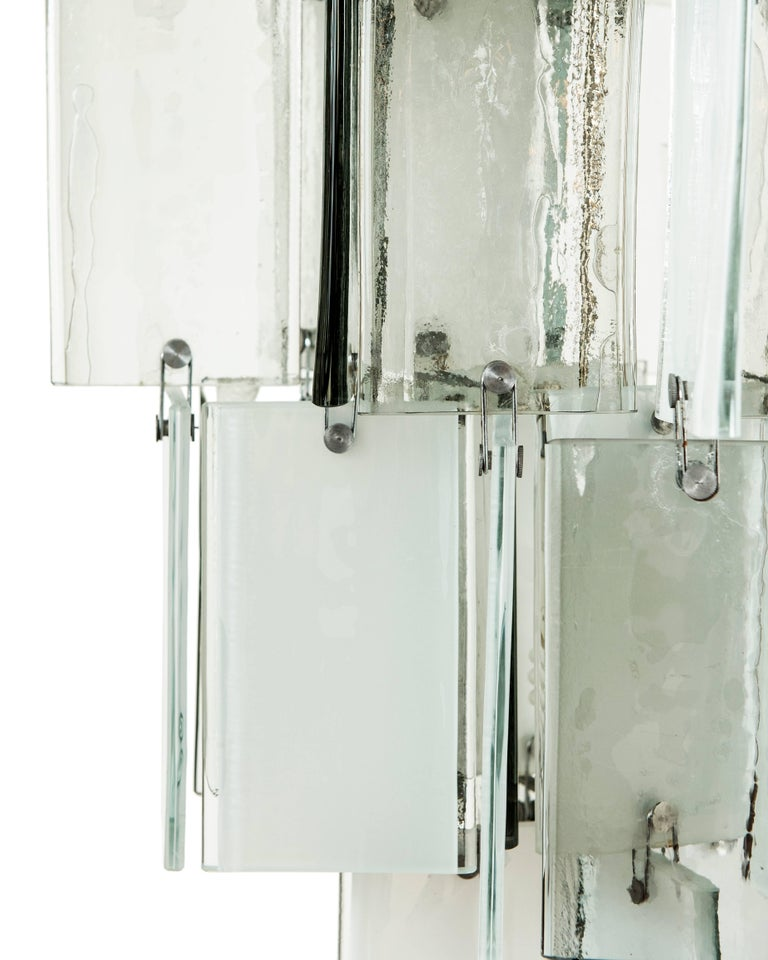 Mid-Century Modern Large Vintage Murano Glass Pendant Light Attributed to AV Mazzega For Sale