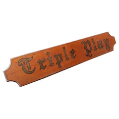 """Large Vintage Nautical Yacht Sign """"Triple Play"""""""