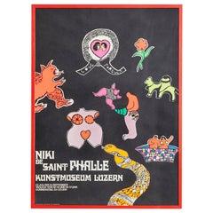 Large Vintage Niki de Saint Phalle Exhibition Poster