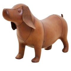 Large Vintage Omersa Brown Leather Doggy