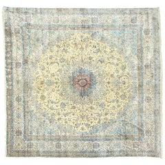 Large Persian Nain square Rug - 100% Silk
