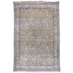 Large Vintage Persian Nain Carpet, circa 1960s