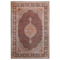 Large Vintage Persian Tabriz Carpet. Size: 13 ft 2 in x 19 ft 7 in
