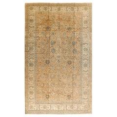 Large Vintage Persian Tabriz Rug, circa 1920, 10'5 x 15'6