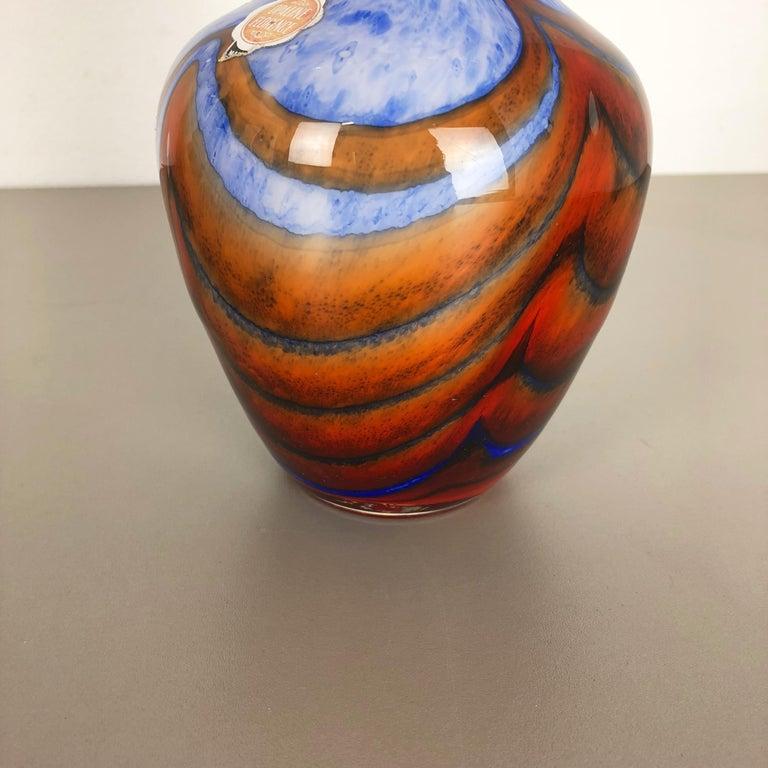 Large Vintage Pop Art Opaline Florence Vase Design 1970s, Italy 4
